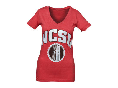 North Carolina State Wolfpack NCAA Womens Maude Vneck T-Shirt