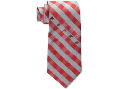 Ohio State Buckeyes Polyester Checked Tie