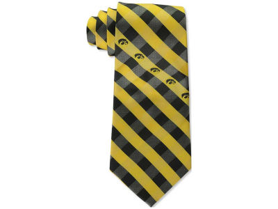 Iowa Hawkeyes Polyester Checked Tie