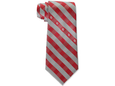 Oklahoma Sooners Polyester Checked Tie