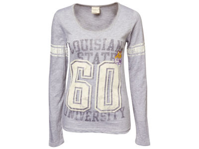 LSU Tigers NCAA Ladies Autumn Long Sleeve Stripe T-Shirt