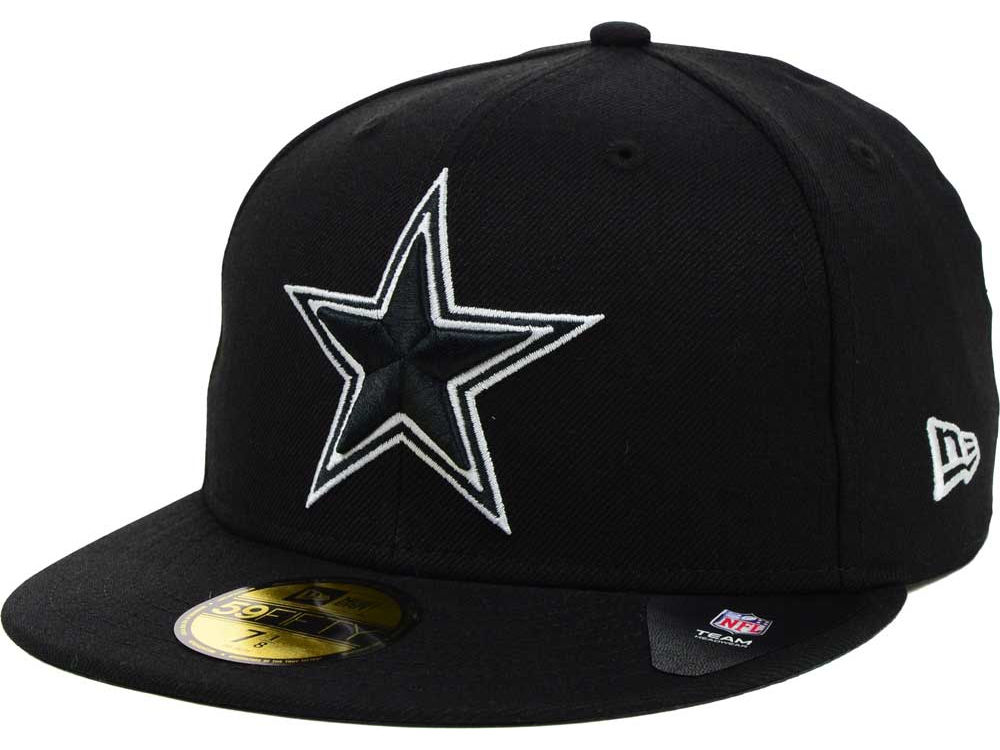 Dallas Cowboys New Era NFL Black And White 59FIFTY Cap  a79a5fcee21