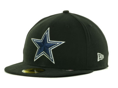 Dallas Cowboys New Era NFL Black Team 59FIFTY Cap