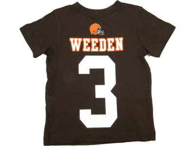Cleveland Browns Brandon Weeden Nike NFL Youth Big Number T-Shirt