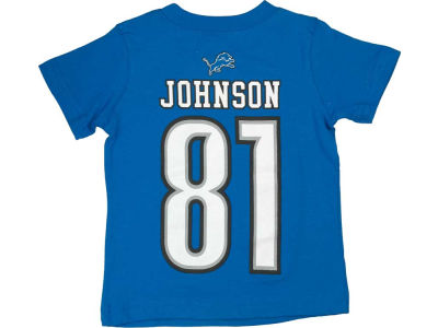 Detroit Lions Calvin Johnson Nike NFL Youth XP Big Number T-Shirt