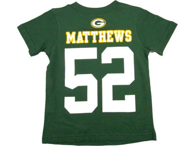 Green Bay Packers Clay Matthews Nike NFL Youth Big Number T-Shirt