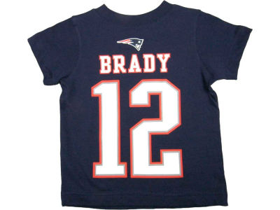 New England Patriots Tom Brady Nike NFL Youth Big Number T-Shirt