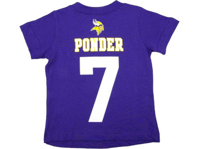Minnesota Vikings Christian Ponder Nike NFL Kids Name and Number T-Shirt