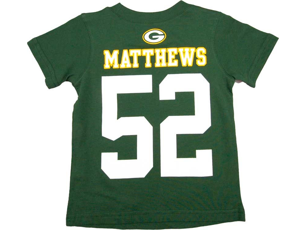 00420bc51 Green Bay Packers Clay Matthews Nike NFL Toddler Big Number T-Shirt ...