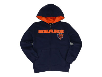 Chicago Bears Nike NFL Youth Sportsman Full Zip Fleece Hoodie