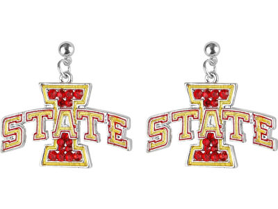 Iowa State Cyclones Crystal Logo Earrings