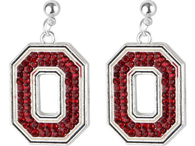 Ohio State Buckeyes Crystal Logo Earrings