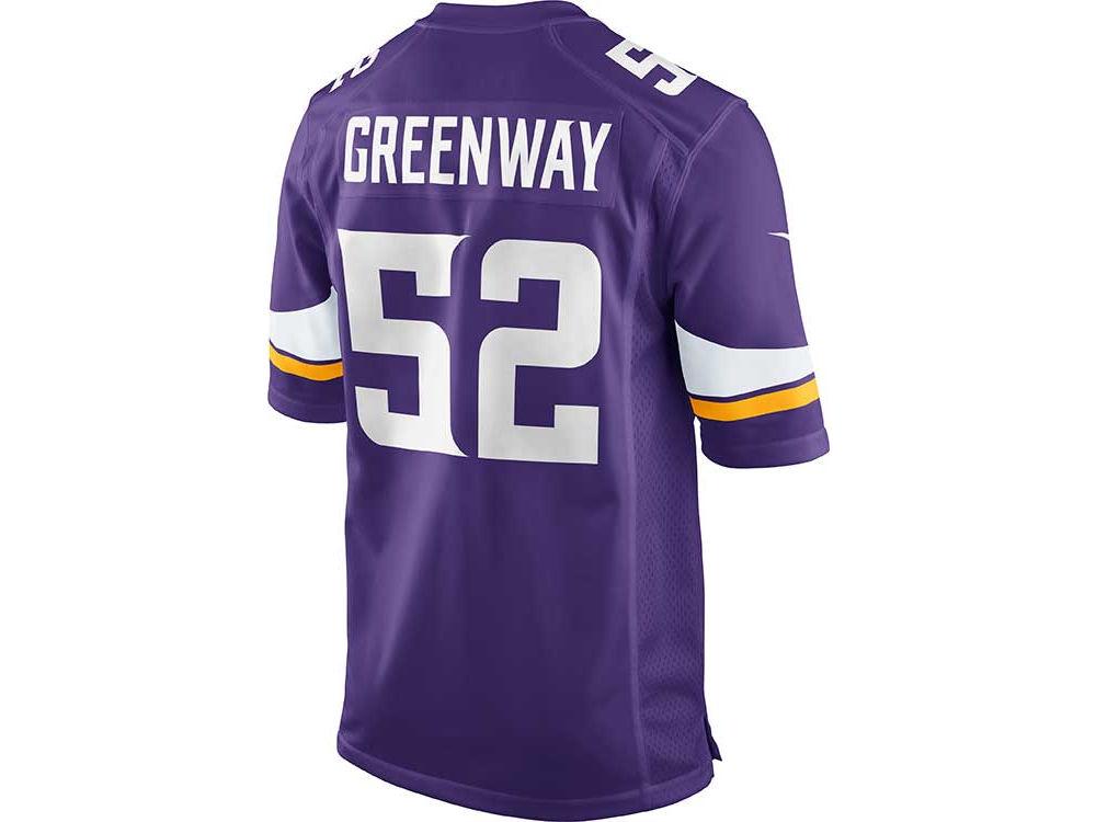 Minnesota Vikings Chad Greenway Nike NFL Men s Game Jersey  8aff1071a