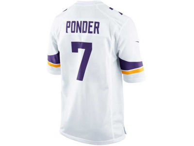 Minnesota Vikings Christian Ponder Nike NFL Men's Game Jersey