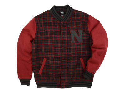 New Era Branded Varsity Plaid Jacket
