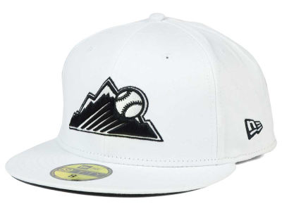 Colorado Rockies New Era MLB White And Black 59FIFTY Cap