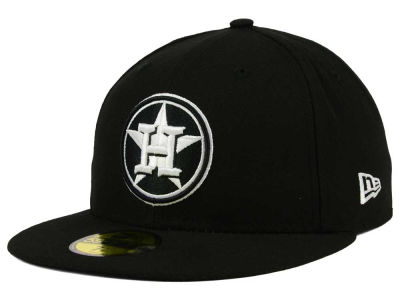Houston Astros New Era MLB Black and White Fashion 59FIFTY Cap
