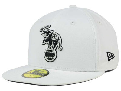 Oakland Athletics New Era MLB White And Black 59FIFTY Cap