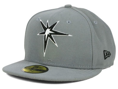Tampa Bay Rays New Era MLB Gray BW 59FIFTY Cap