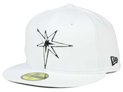 Tampa Bay Rays New Era MLB White And Black 59FIFTY Cap