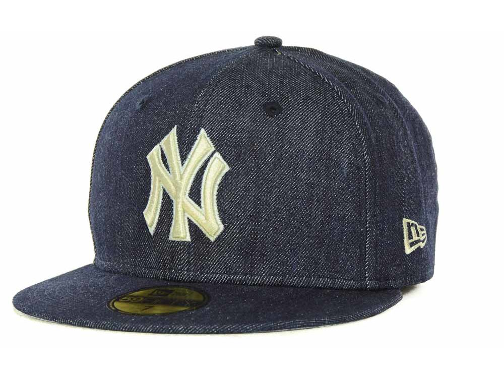 New York Yankees New Era MLB Denim Exclusive Fitted 59FIFTY Cap ... 0813f7f4493