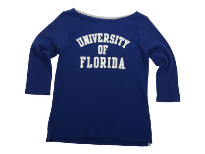 Florida Gators NCAA Womens Boatneck Waffle Top
