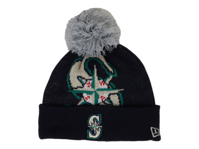 Seattle Mariners New Era MLB Junior Woven Biggie Knit