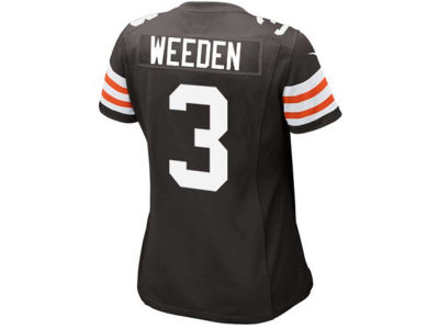 Cleveland Browns Brandon Weeden Nike NFL Women's Game Jersey
