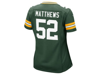 Green Bay Packers Clay Matthews Nike NFL Women's Game Jersey
