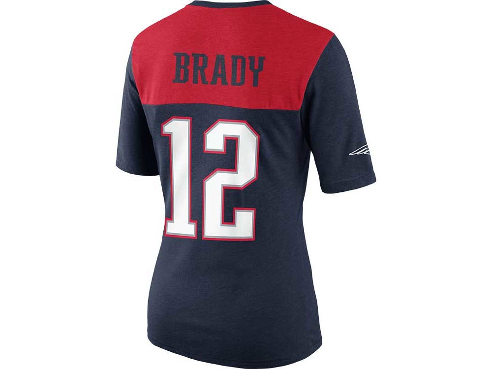check out b9ccb 8fd30 New England Patriots Tom Brady Nike NFL Womens My Player Name and Number Top