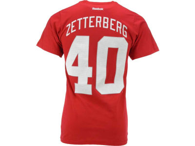 Detroit Red Wings Henrik Zetterberg Reebok NHL Premier Player T-Shirt