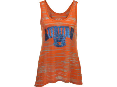 Auburn Tigers Blue 84 NCAA Womens Quiver Burnout Stripe Tank