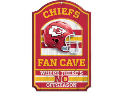 Kansas City Chiefs 11x17 Wood Sign