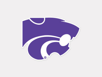 Kansas State Wildcats 4x4 Die Cut Decal Color