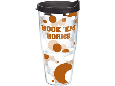 Texas Longhorns 24oz. Polka Dot Tumbler With Lid