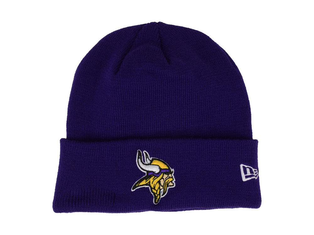 Minnesota Vikings New Era NFL Basic Cuff Knit  ffd3a027e