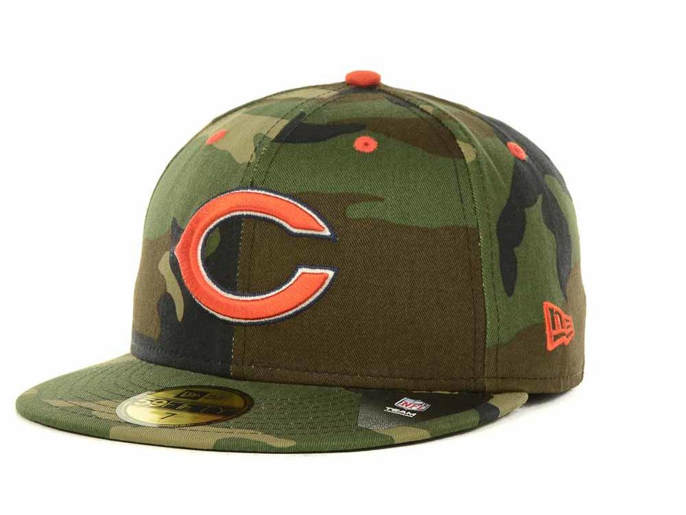 ... adjustable womens hat cap 949aa 7a36b  good chicago bears new era nfl  camo pop 59fifty cap 4ad72 cb092 1f4d48110