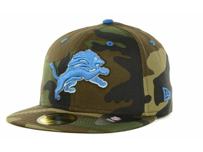 Detroit Lions New Era NFL Camo Pop 59FIFTY Cap