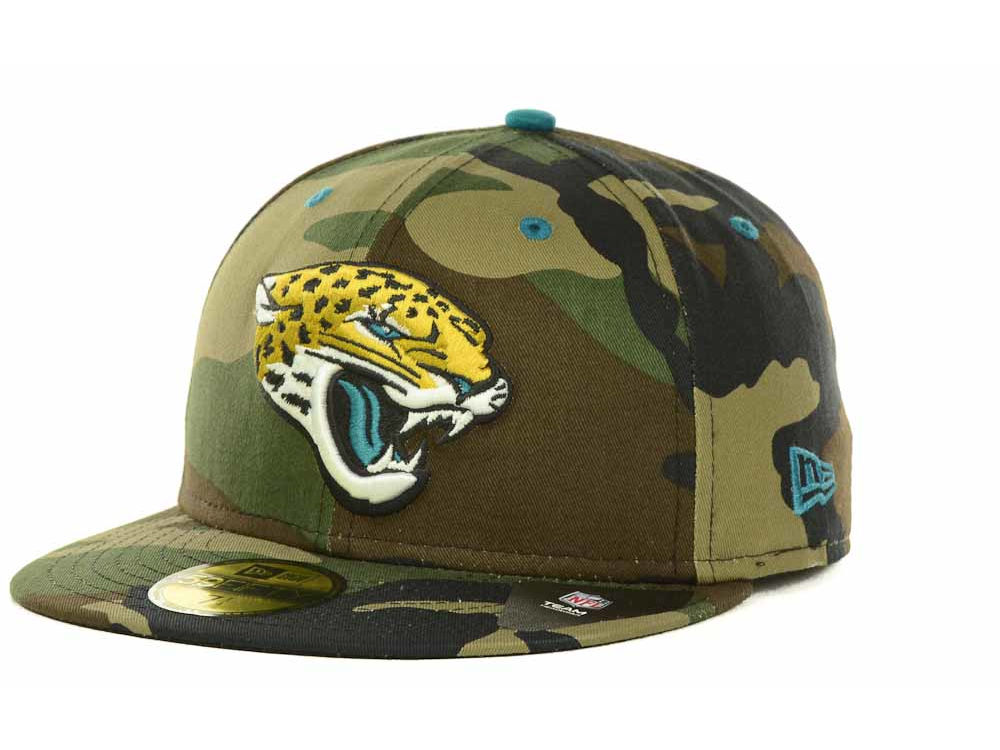 Jacksonville Jaguars New Era NFL Camo Pop 59FIFTY Cap  547dc3db5b73