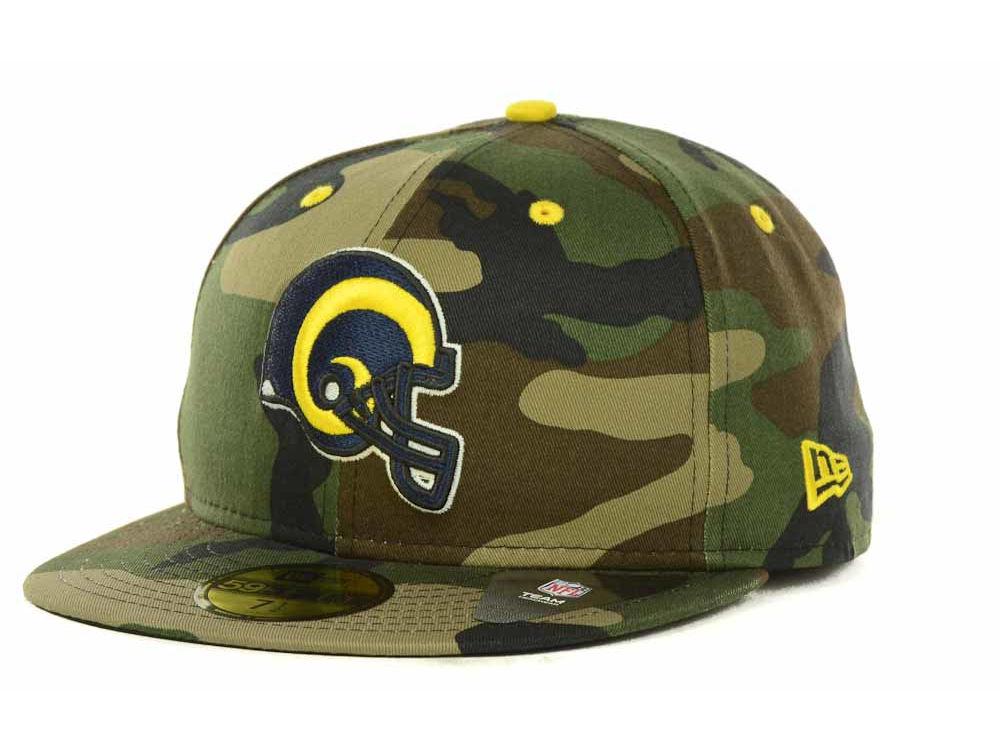Los Angeles Rams New Era NFL Camo Pop 59FIFTY Cap  77a49d92f