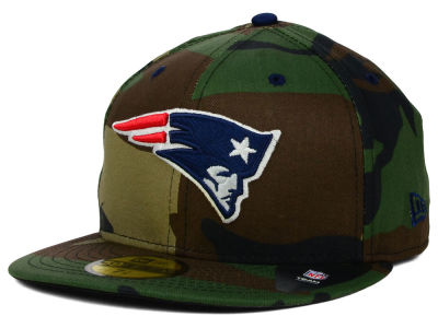 New England Patriots New Era NFL Camo Pop 59FIFTY Cap