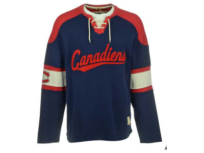 Montreal Canadiens Reebok NHL Men's CN CCM Long Sleeve Knit Rib Crew Sweatshirt