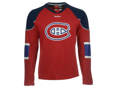 Montreal Canadiens Reebok NHL Men's Edge Jersey Long Sleeve T-Shirt