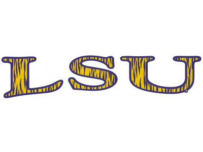 LSU Tigers Vinyl Decal