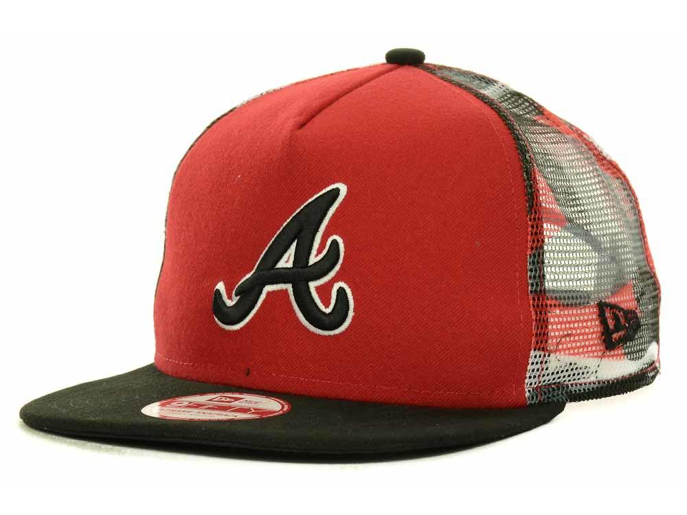 Atlanta Braves New Era MLB Meshed Camo A-Frame 9FIFTY Snapback Cap ...