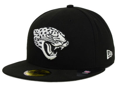 Jacksonville Jaguars New Era NFL Black And White 59FIFTY Cap