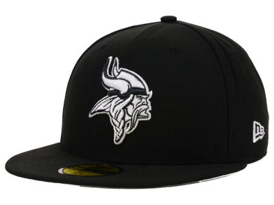 Minnesota Vikings New Era NFL Black And White 59FIFTY Cap