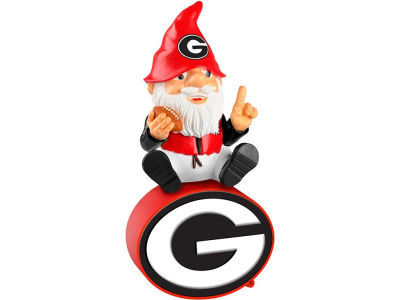 Georgia Bulldogs Gnome Sitting on Logo