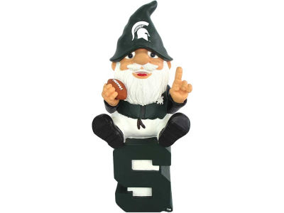 Michigan State Spartans Gnome Sitting on Logo