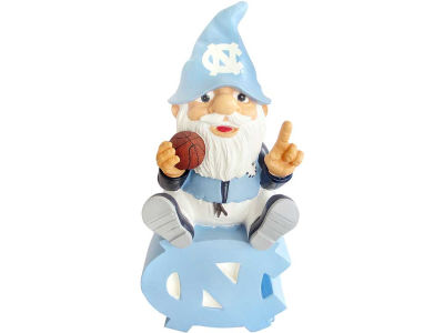 North Carolina Tar Heels Gnome Sitting on Logo